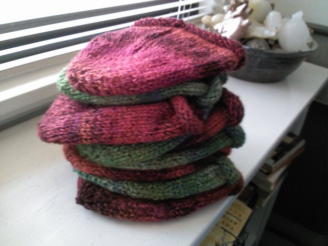 hats in a stack