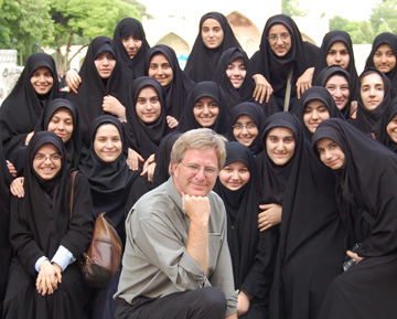 rick steves with iranian girls