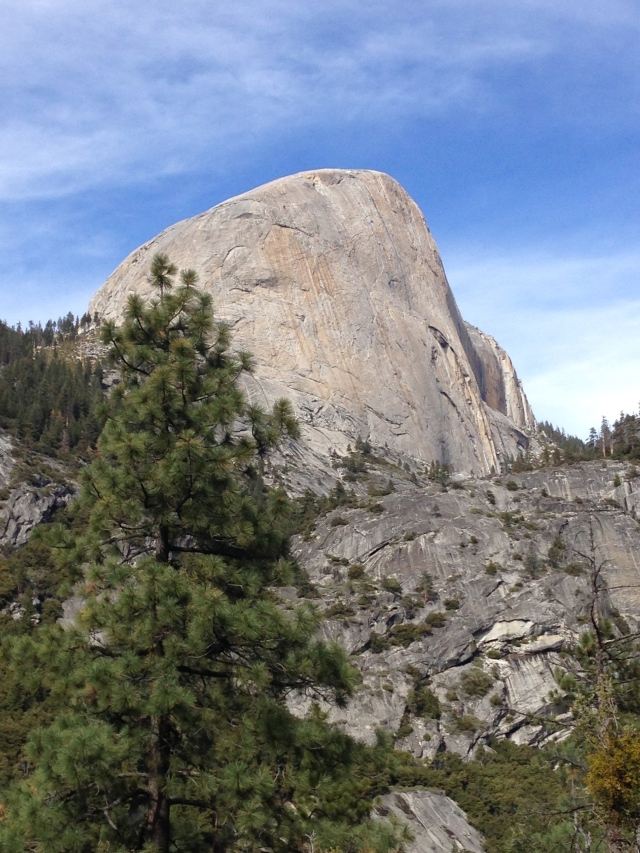 Quite a bit closer to Half Dome's Backside.  March 2014.