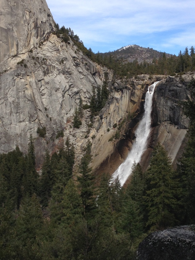 First view of Nevada Falls. March 2014.