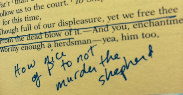 how nice of p to not murder the shepherd