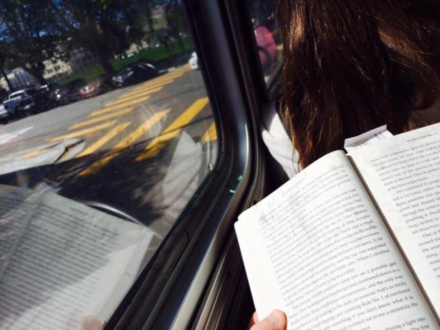 Reading on Muni photo