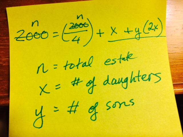 Algebra post-it